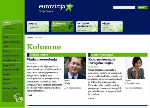 Eurovizija.si - Način spoznavanja delovanja Evropskega parlamenta