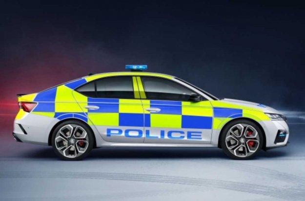 Octavia VRS tudi v policijski preobleki